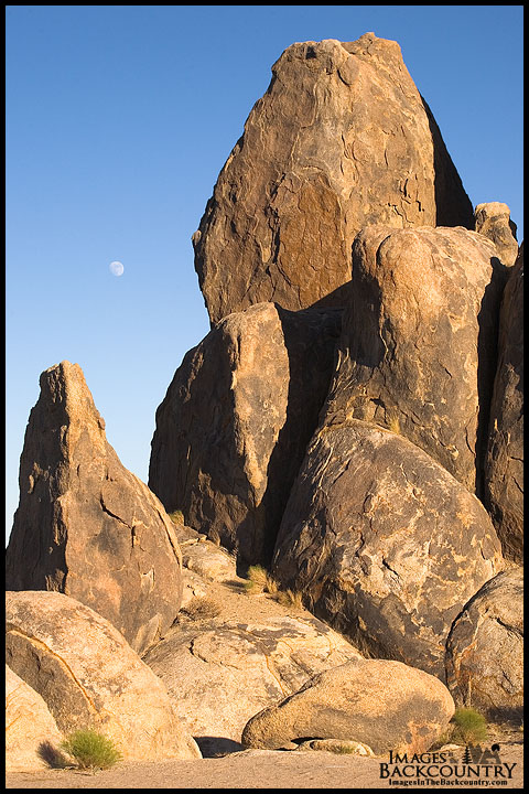 Moon Over the Alabama Hills