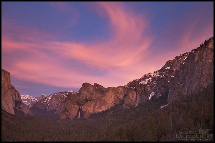 Swirling Clouds Over Bridalveil Falls