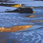 Ice on Tioga Lake