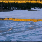 Ice on Tioga Lake