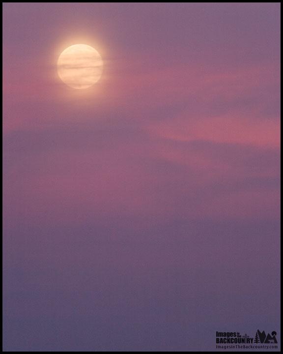 The Moon at San Luis NWR, CA