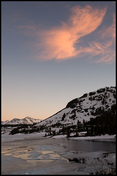 Sunset over Tioga Lake