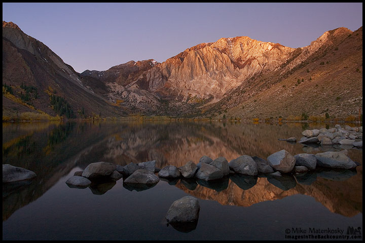 Fall colors at Convict Lake