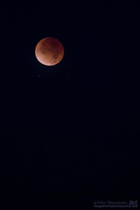 Lunar Eclipse from Lake Yosemite