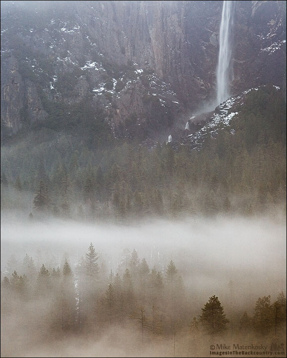 Bridalveil Falls from Tunnel View, Yosemite