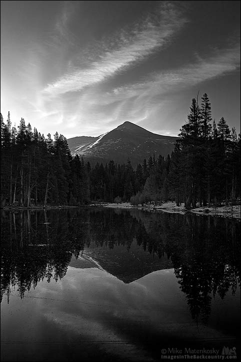 Sunrise Over Mount Gibbs in Black and White