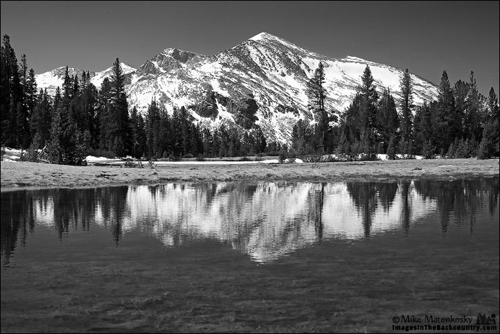 Mammoth Peak in Black and White