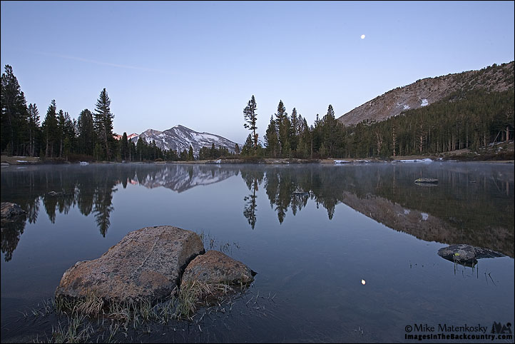 Mammoth Peak and the Moon