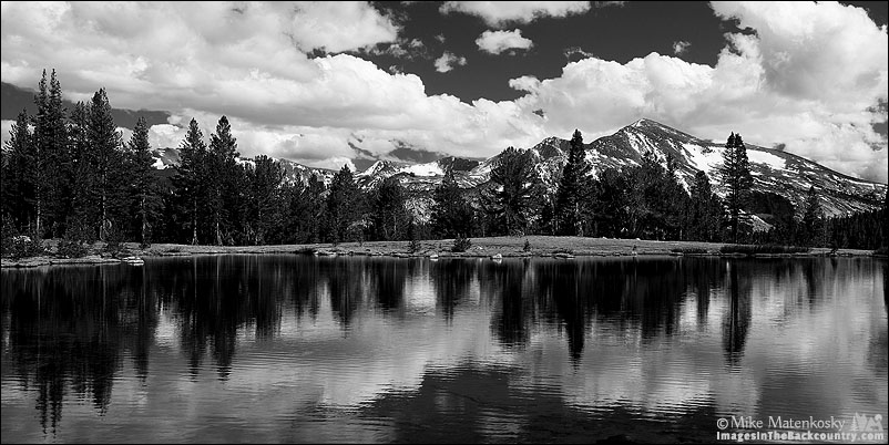 Clouds Over The Kuna Crest in Black and White