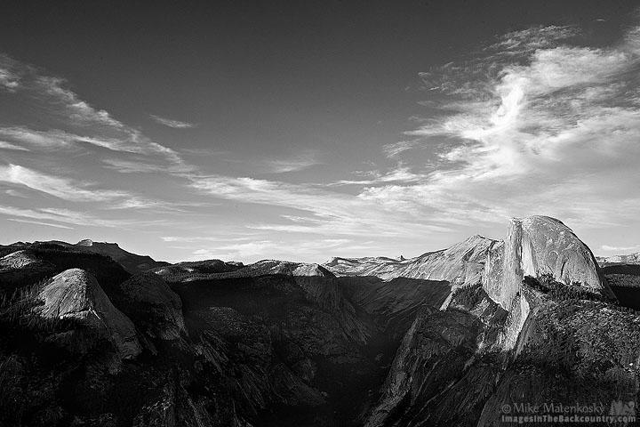 Glacier Point Yosemite in Black and White