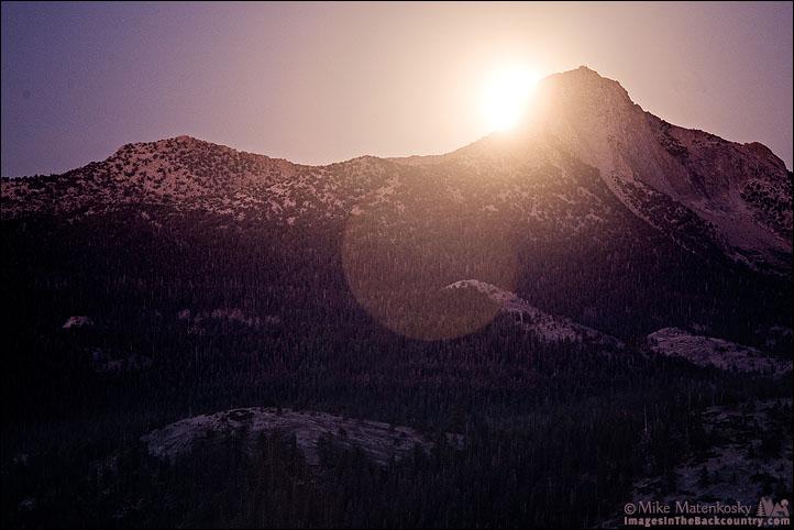 Moonrise Over Mount Clark