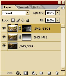 Showing the Layer Masks