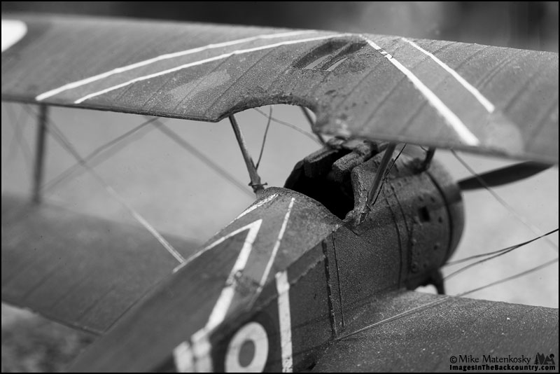 1/72 Scale Sopwith Camel in Black and White