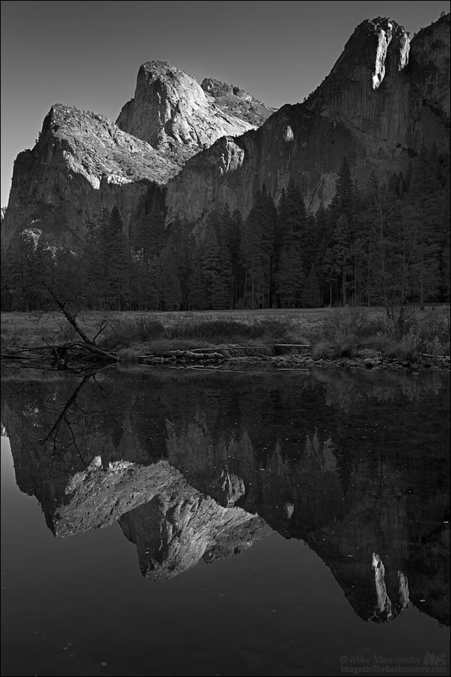 A Reflections of Cathedral Rocks and Leaning Tower