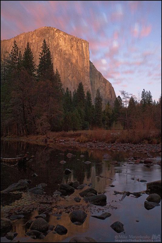 A long exposure of El Capitan in Yosemite