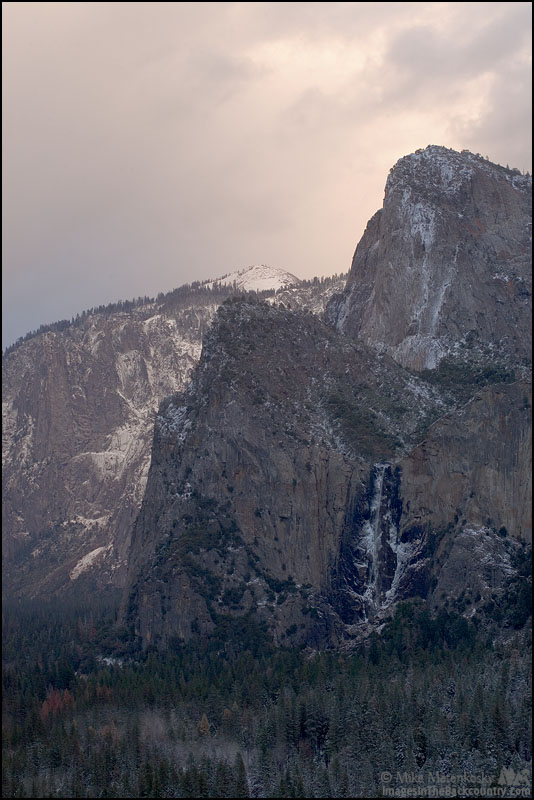 Bridalveil Falls from Tunnel View