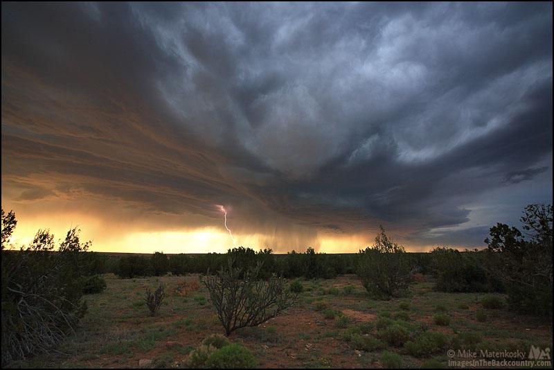 Lightning strike at Santa Rosa Campground and RV Park