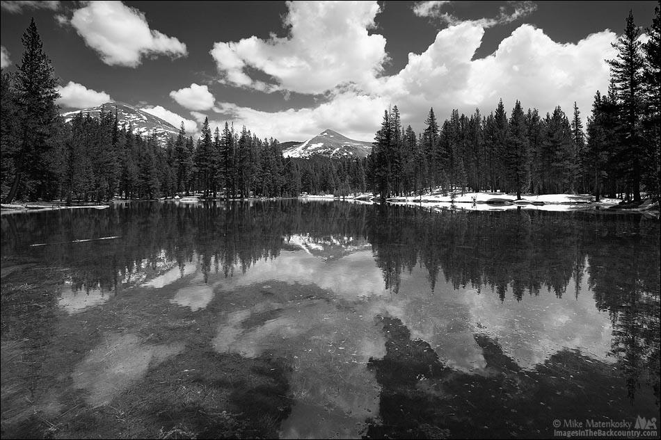 Black and white photo of Mount Dana and Mount Gibbs