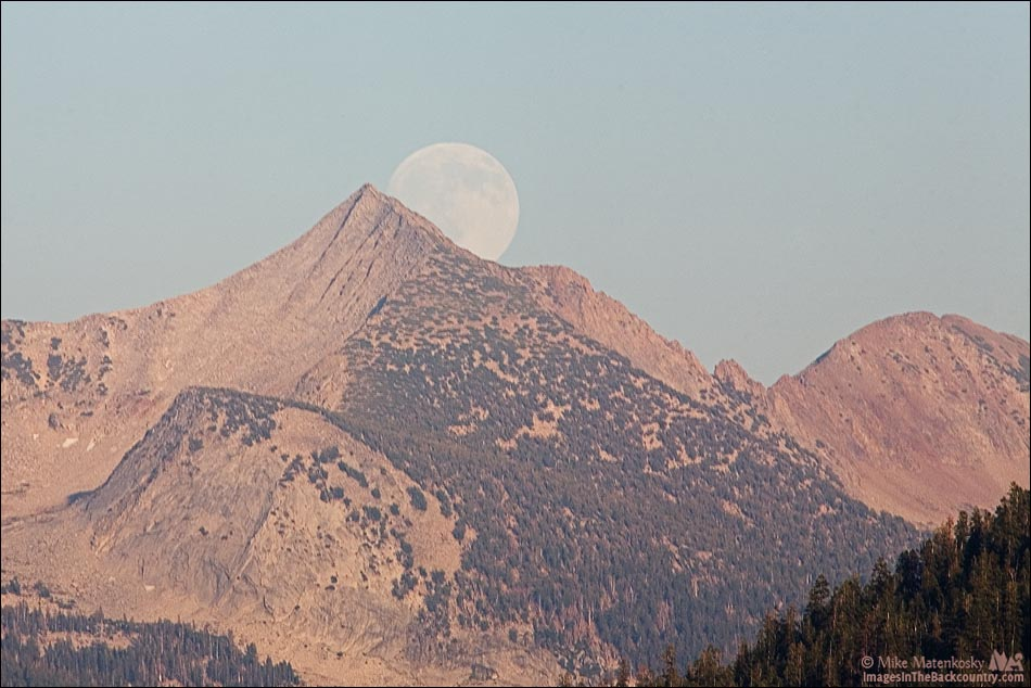 Moon rising over Gray Peak