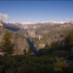 A wide angle view from Glacier Point Yosemite
