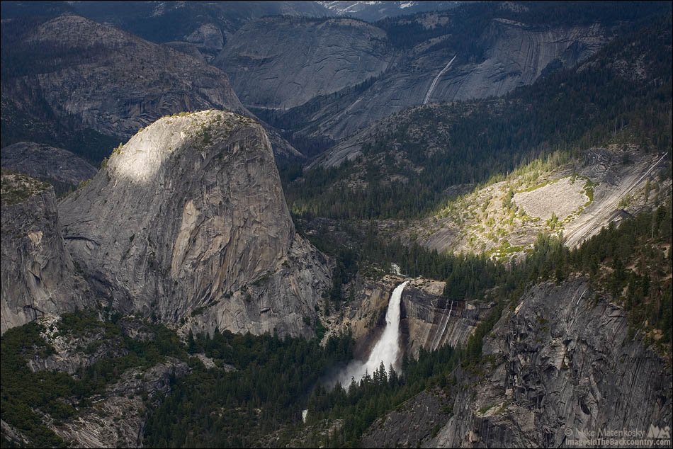 Liberty Cap and Nevada Falls from Washburn Point
