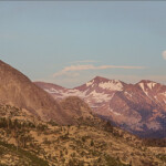 Rising Moon with Mount Starr King and Red Peak at Washburn Point