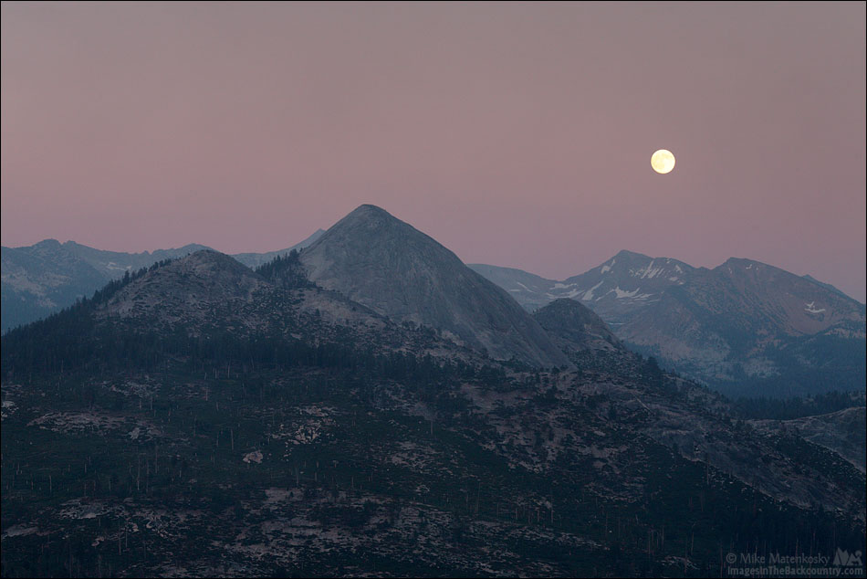 Moon Rising Over Red Peak